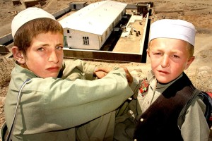 Afghanistan, garçons, visage, portrait