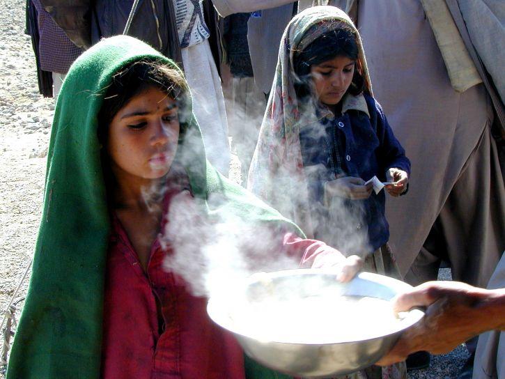 Afganistán, la alimentación, distribución, centro, niños
