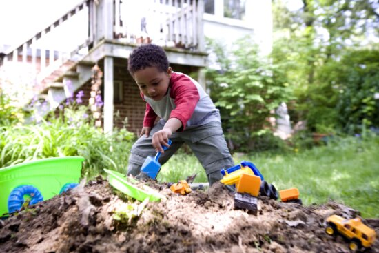 African American, children, play, outside