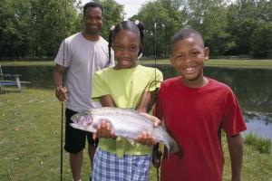 Αφρο αμερικανική οικογένεια, πατέρας, παιδιά, Κόρη, γιος