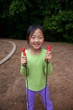 Asiatique, américaine, l'école enfant, jeune, étudiant, amusement