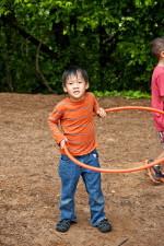 boy, spinning, hula hoop