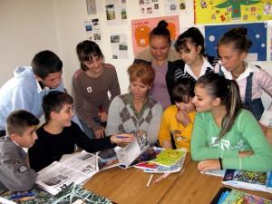 boys, girls, female, teacher