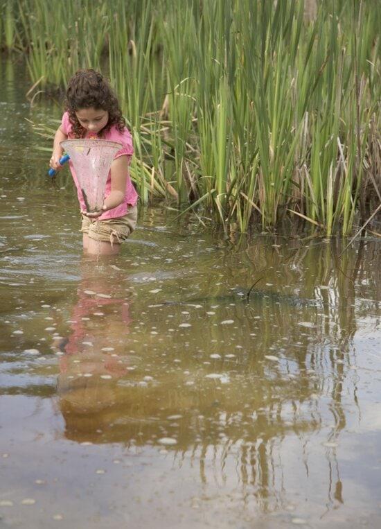 child, lake