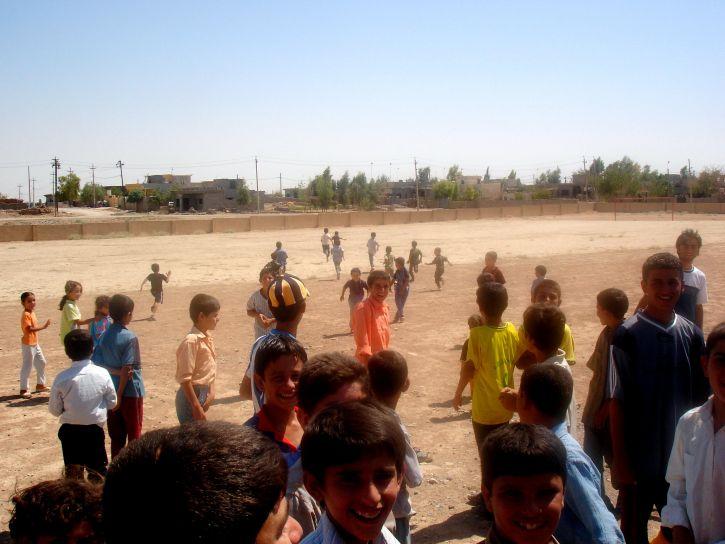 children, assemble, play, football