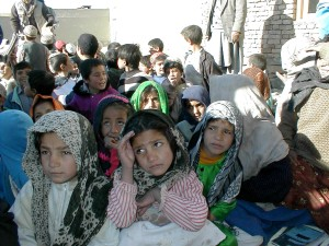 children, Afghanistan, outdoor, class
