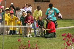 Kinder, Linie, Erfahrung, Nervenkitzel, Feuerwehr
