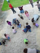 children, treasure, hunting, sandpit