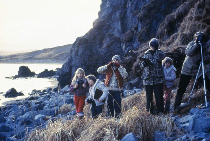 children, parents, enjoy, watching, nature