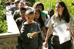 Klassenzimmer, Kinder, genießen, Bildung, Natur, Spaziergang