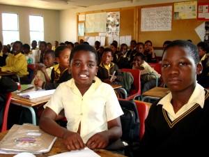 up-close, gyermekek, általános iskola, Afrika