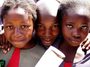 up-close, faces, young girls, school, Zambia