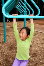 cute, looking, girl, play, ground, park
