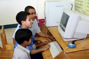 education, program, computers, Egypt, school children