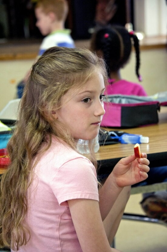girl, healthy, meal, schools, cafeteria