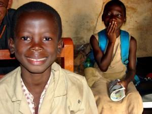 glade, barn, Benin, Afrika