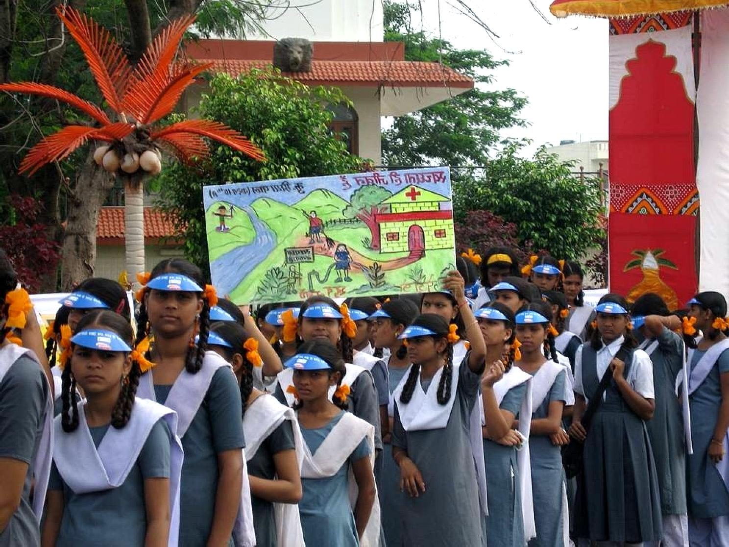 Free picture: Indian, girls, dressed, school, uniforms