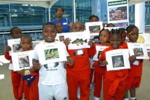enfants, tenue, photos, animal