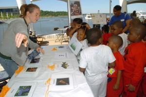 enfants, apprendre, poissons
