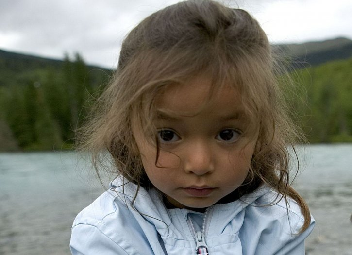 little, girl, face