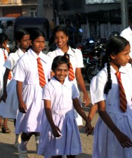 first day, school, Trincomalee, Sri Lanka, girls, smile, uniforms