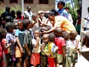 prevention, education, site, Namibia, children, attending, program