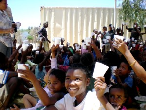 public, crowd, partnership, children, Namibia, Africa