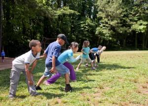 les enfants de l'école, participer, footrace