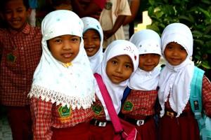 6, 학년, 여자, 학생, 인도네시아, 영, 인도네시아어, girs, 얼굴, 가까운