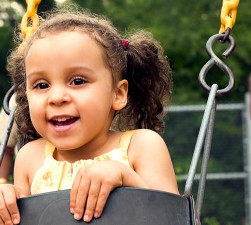 smile, young girl, fun, play, rides, community, park