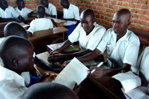 diákok, általános iskola, a csoport munkáját, Uganda