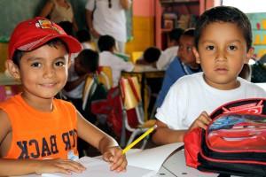 two, children, school, class, learning