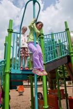 two, school girls, play