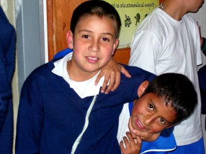 two, young boys, Colombia, play