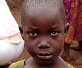 up-close, African, boy, face