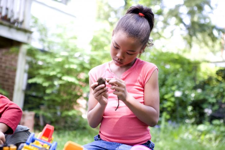 Free Picture Young African American Girl Play Outside