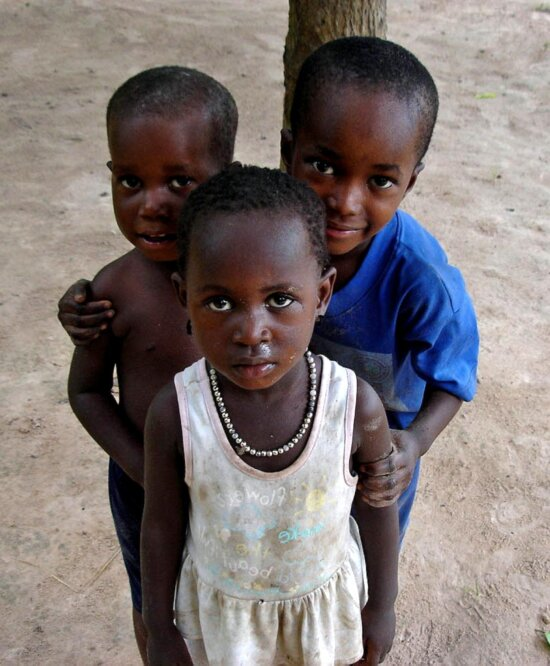 young, African, children, portraits