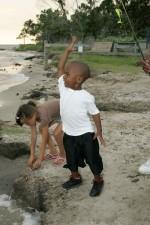 jeune, Afro-américain, garçon, caucasien, peu, fille, jouer
