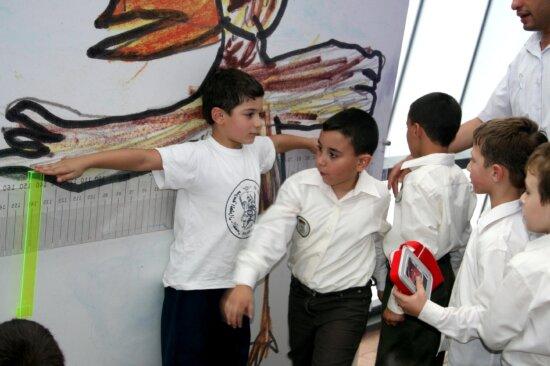 young boys, play, school