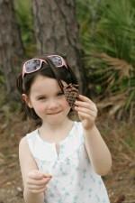 ung, sød, ansigt, pige, opdagede, fyrretræ, træ, skat