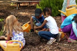 young, cute, girls, gardening