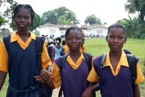Młoda kobieta, studentów, Monrovii