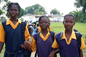 jeune femme, étudiants, Monrovia, Liberia