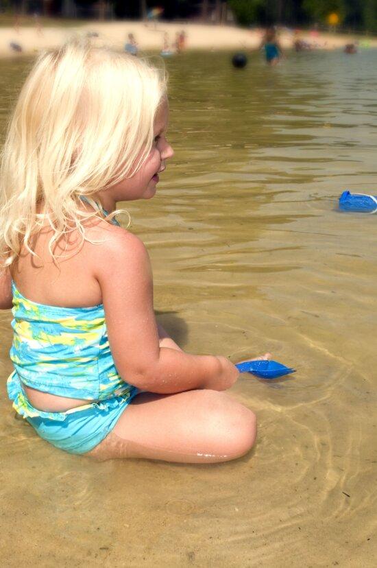 young girl, beach