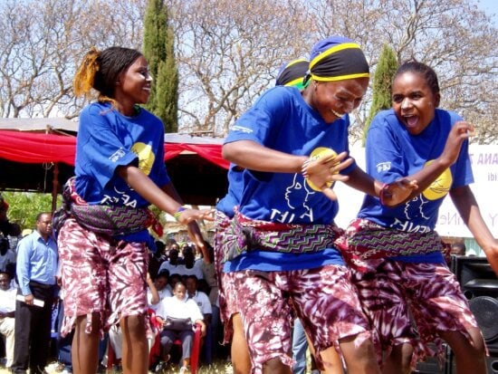 young girls, dance, ceremony