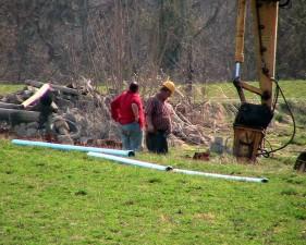 constructing, field