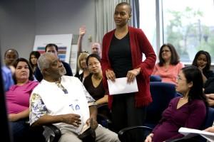 African American, eine Frau, Gruppe, Menschen