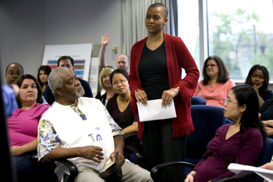 African American, woman, group, people