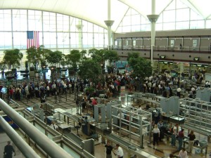airport, security, lines