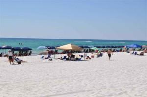 plaża, widzów, wybrzeża